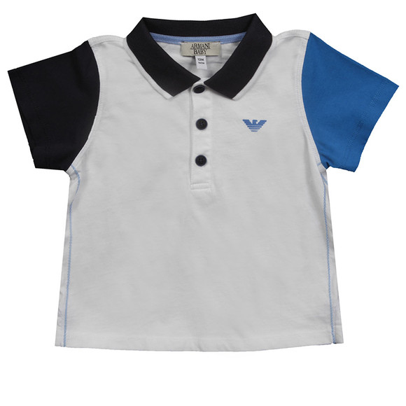 Armani Baby Boys White Polo Shirt + Short Set main image