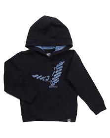Armani Junior  Boys Blue CXB04 Logo Overhead Hoody