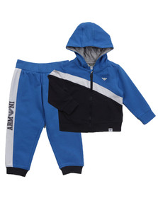 Armani Baby Boys Blue Diagonal Stripe Tracksuit
