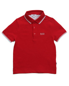 Boss Boys Red J25910 Tipped Polo Shirt