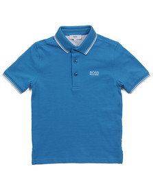 Boss Boys Blue J25910 Tipped Polo Shirt