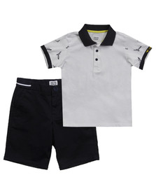 Armani Junior  Boys Blue C4T02 Polo & Short Set