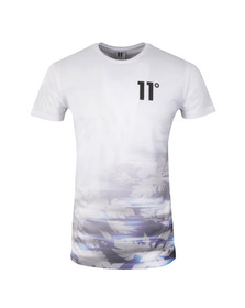 Eleven Degrees Mens White Electric Fade Sub T Shirt