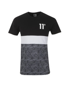 Eleven Degrees Mens Black Triple Panel T Shirt