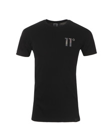 Eleven Degrees Mens Black Woodland Camo Logo T Shirt