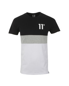 Eleven Degrees Mens Multicoloured Triple Panel T Shirt