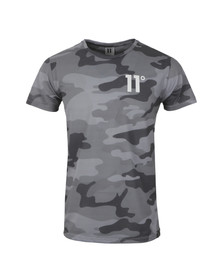 Eleven Degrees Mens Grey Camo Sub T Shirt