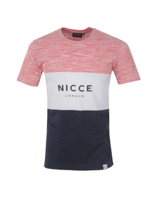 Nicce Mens Multicoloured Mixed Triple Panel T-Shirt