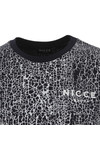 Nicce Mens Blue Cracked T Shirt