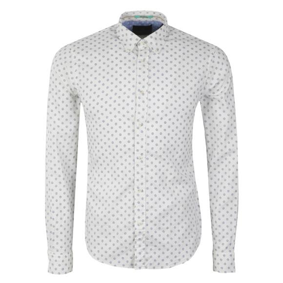 Scotch & Soda Mens White Shell Print Oxford Shirt main image