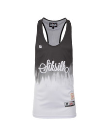 Sik Silk Mens Black Racer Back Vest