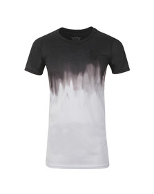 Sik Silk Mens Black Dip Dye Muscle T-Shirt