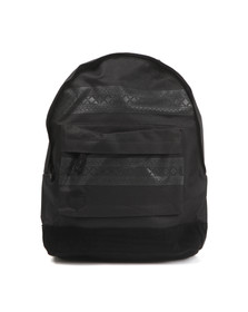Mi Pac Unisex Black Nordic Pocket Print Backpack
