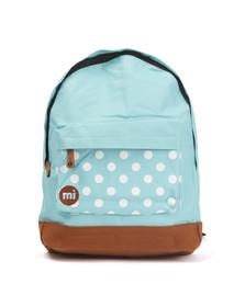 Mi Pac Unisex Blue Polkadot Pocket Print Backpack