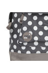 Mi Pac Unisex Grey All Over Polkadot Backpack