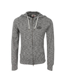 Franklin & Marshall Mens Black Full Front Zip Fleece Hoodie