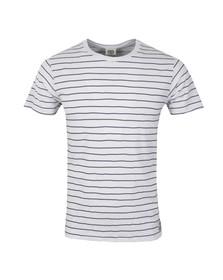 Franklin & Marshall Mens White Stripe T Shirt