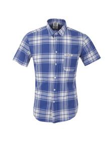 Franklin & Marshall Mens Blue S/S Check Shirt