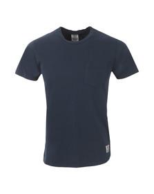 Franklin & Marshall Mens Blue Perforated Pocket T-Shirt