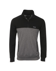 Nicce Mens Black Half Zip Track Top