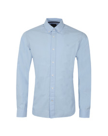 Crew Mens Blue Sandbanks L/S Plain Shirt