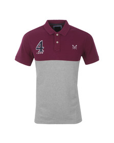 Crew Mens Purple S/S Crew Numbers Polo