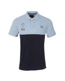 Crew Mens Blue S/S Crew Numbers Polo