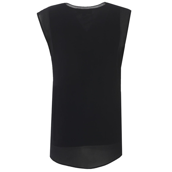 Michael Kors Womens Blue Sleeveless V-Neck Top main image