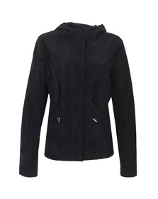 Michael Kors Womens Blue Cropped Nylon Jacket