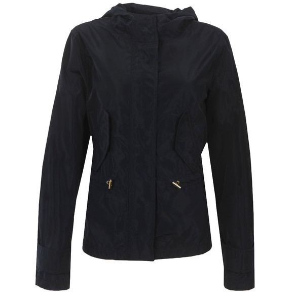 Michael Kors Womens Blue Cropped Nylon Jacket main image