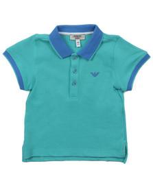 Armani Baby Boys Green Contrast Collar Polo Shirt