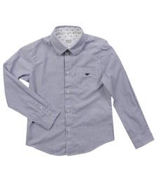 Armani Junior  Boys Blue CXC08 Stripe Shirt