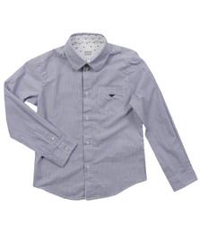 Armani Junior  Boys Blue CXC08 Stripe Shirt