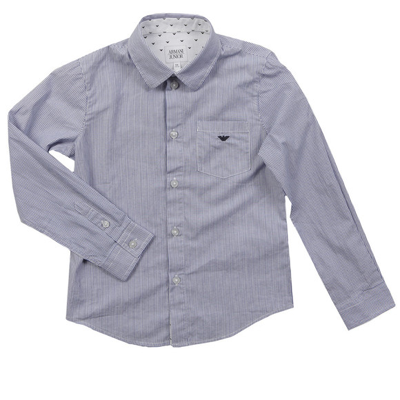Armani Junior  Boys Blue CXC08 Stripe Shirt main image