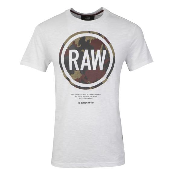 G-Star Mens White Gepston T Shirt main image