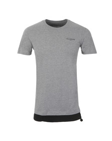 Illusive Mens Grey Parachute Hem T Shirt