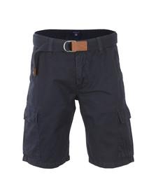 Gant Mens Blue Loose Belted Cargo Shorts