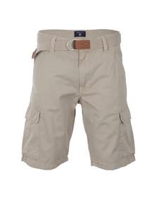 Gant Mens Beige Loose Belted Cargo Shorts