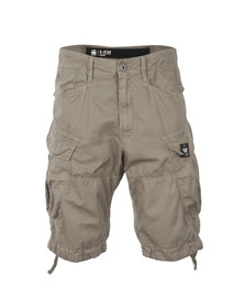 G-Star Mens Beige Rovic Loose Wave Bermuda Short