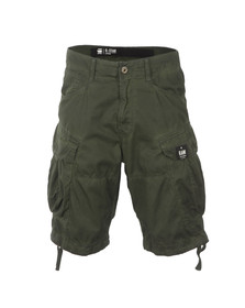 G-Star Mens Green Rovic Loose Wave Bermuda Short