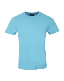 Gant Mens Blue Solid Crew Neck T-Shirt