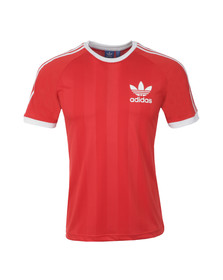 Adidas Originals Mens Red California Football T-Shirt