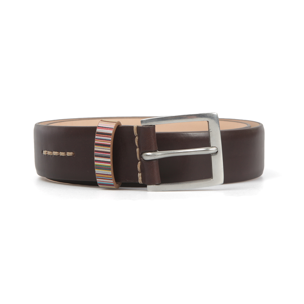 7aee50145cc7a Paul Smith Jeans Bright Signature Stripe Keeper Belt   Oxygen Clothing