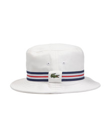 Lacoste Mens White Bucket Hat RK8487