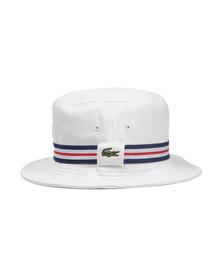 Lacoste Mens White Bucket Hat RK8487