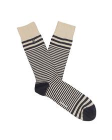 Barbour Lifestyle Mens Blue Glen Stripe Sock