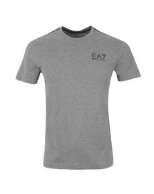 EA7 Emporio Armani Mens Grey Train 7 Lines T Shirt