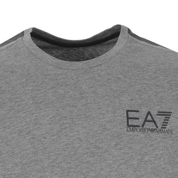 EA7 Emporio Armani Mens Grey Train 7 Lines T Shirt main image