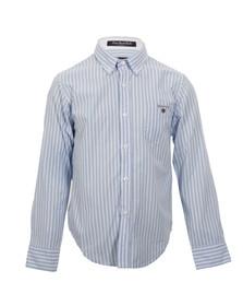Gant Boys Blue Gant M.M. Long Beach Poplin Stripe Shirt