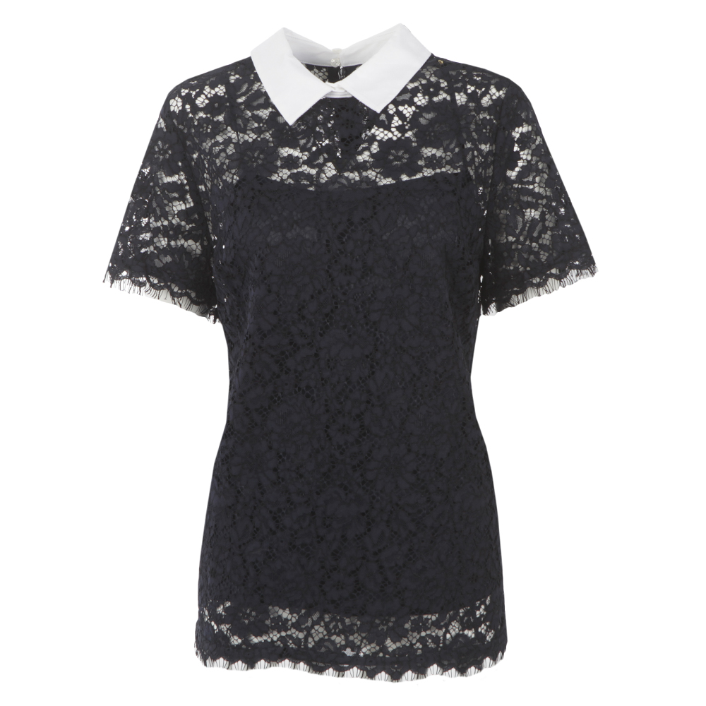 Collared Lace Top main image